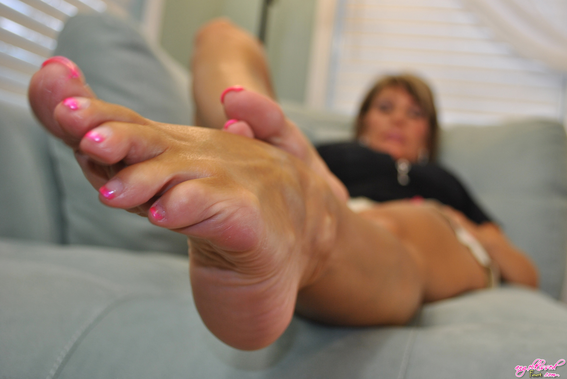 Angel kissed feet
